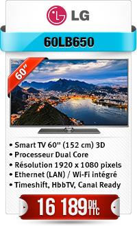 """Téléviseur LG 60"""" LED SMART 3D"""
