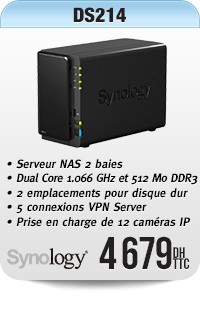 Barebone Serveur NAS 2 baies hautes performances