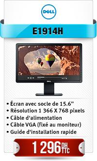 "Dell E-series E1914H 47cm18,5""LED monitor VGA 1366x768"