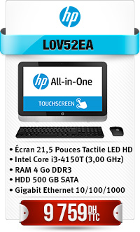 "Ordinateur Tactile HP Tout-en-un 22-2110nk Intel® Core i3-4150T Écran 21,5"""