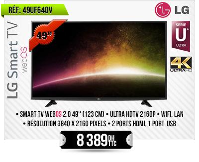 """TV Ulta HD 4K WebOS 2.0 49"""" (123 cm)"""