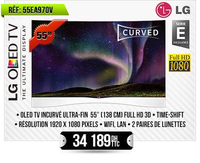 "TV OLED INCURVÉE 3D 55"""