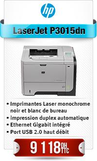 HP LJ P3015DN Printer Idem P30D+Réseau-Remplace P3005dn