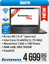 Ordinateur Portable Lenovo G5070