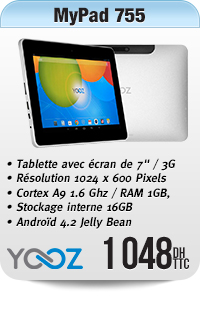 YooZ MyPad755 Metal , 16GB, 3G