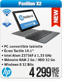 Ordinateur portable HP 10.1 pouces détachable HP X2 10-j001nf Atom Z3745D Q2GB 32GB