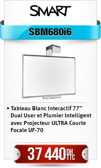 Tableau Blanc Interactif 77' Dual User et Plumier Intelligent avec Projecteur ULTRA Courte Focale UF-70