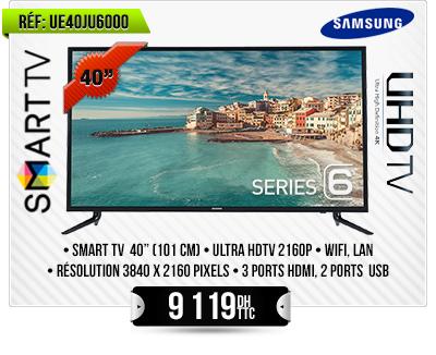 Televiseur LED, Smart UHD 4K -40 Pouces (101 cm)