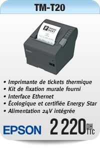 Imprimante de tickets thermique