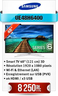 """TELEVISEUR 3D SAMSUNG 48"""" LED SMART"""