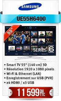 """TELEVISEUR SAMSUNG 55"""" LED SMART 3D"""