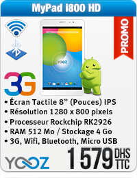Yooz MyPad i800 HD 3G Wifi Bluetooth
