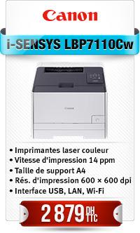 IMPRIMANTE CANON LASER COULEUR LBP7110CW WIFI